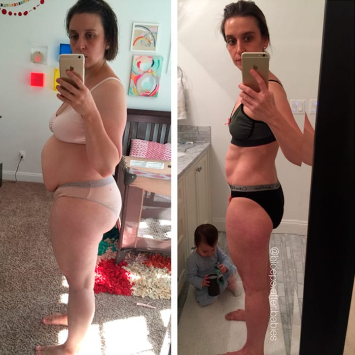Macro Coaching success stories featured by top online macro coach, Amber of Biceps After Babies: Katey