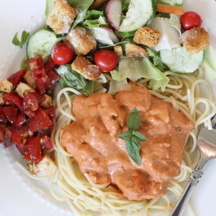 Creamy Marinara Chicken {with Pasta or Spaghetti Squash}