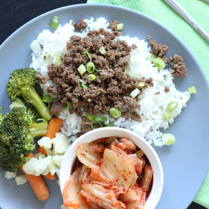 Korean BBQ Beef or Turkey with Rice