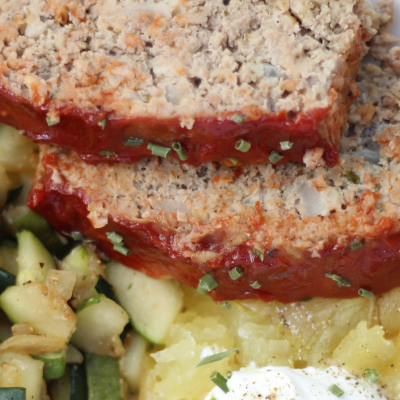 Low Carb Meatloaf recipe featured by top macro coach, Amber of Biceps After Babies.